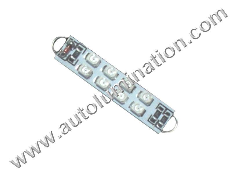 Festoon 8SMD 1210 Rigid_Loop Bulb Instrument Panel Gauge Colored Led Bulbs Lights Lamps