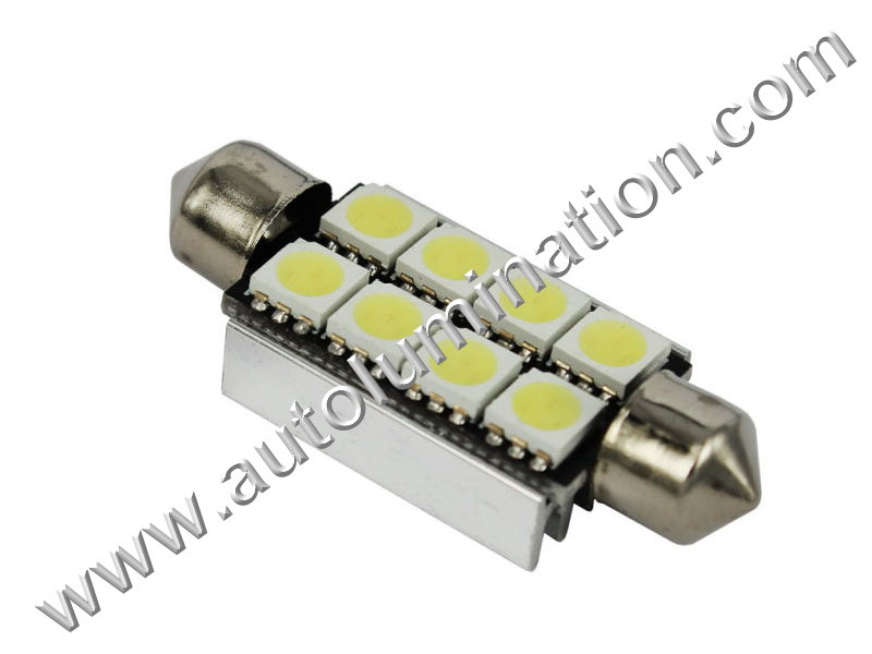 Festoon 8SMD 5050 Canbus Bulb Instrument Panel Gauge Colored Led Bulbs Lights Lamps