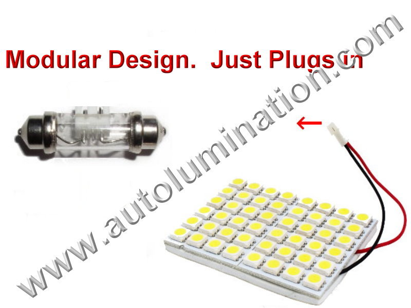 Festoon Array Square 48SMD 3528 Bulb Instrument Panel Gauge Colored Led Bulbs Lights Lamps