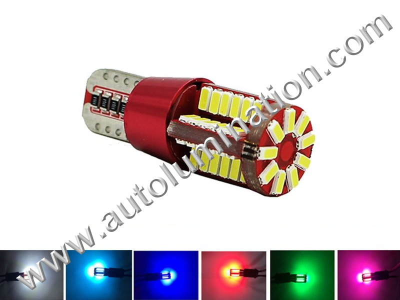 57SMD 4014 CANBUS Bulb Instrument Panel Gauge Colored Led Bulbs Lights Lamps