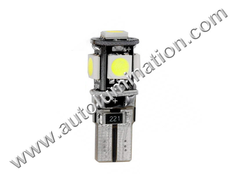 Autolumination 194 5smd 5050 Canbus Bulb T10 Wedge Instrument Panel Gauge Colored Led Bulbs