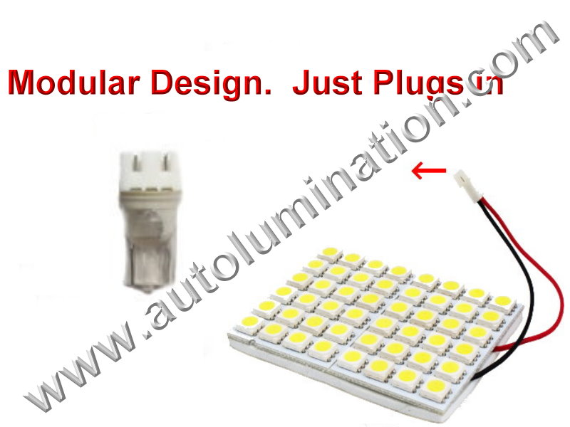 Array Square 48SMD 3528 Bulb Instrument Panel Gauge Colored Led Bulbs Lights Lamps