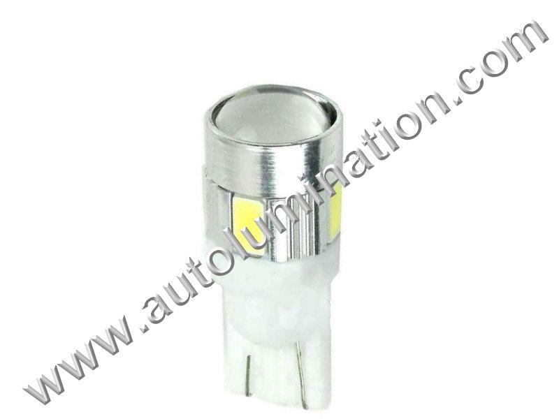 194 T10 Wedge Samsung Osram 6x 5630 7 Watt Instrument Panel Gauge Colored Led Bulbs Lights Lamps
