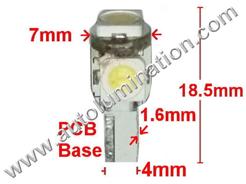 Samsung Goldstar Matrix 3x 5050 24 T6.5 Instrument Panel Gauge Colored Led Bulbs Lights Lamps