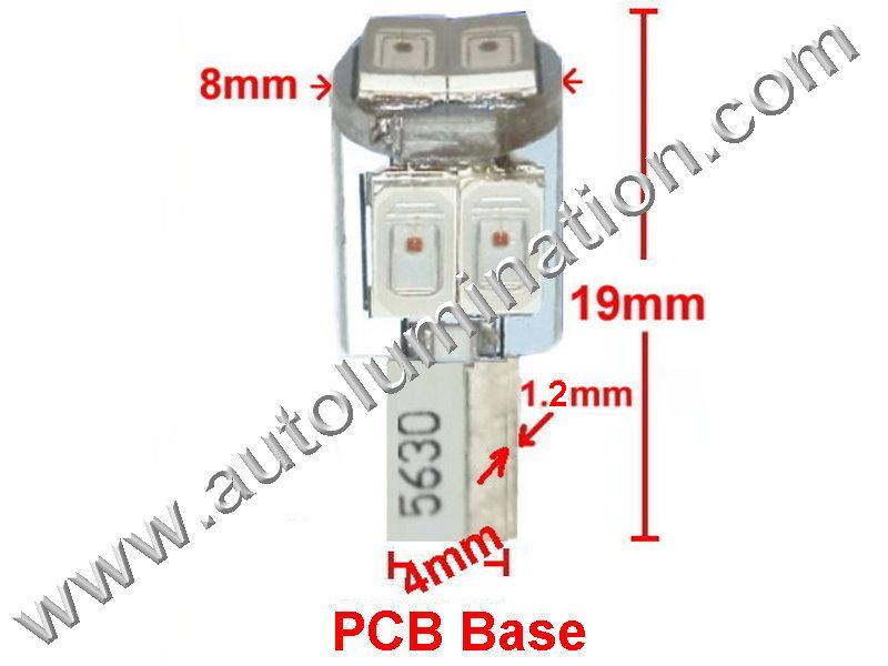 goldstar matrix 6x 5630 24 t6 5 instrument panel gauge colored led bulbs  lights lamps