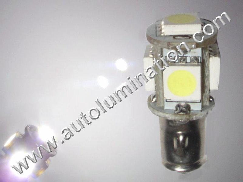 5x 5050 Ba7s T5 Instrument Panel Gauge Colored Led Bulbs Lights Lamps