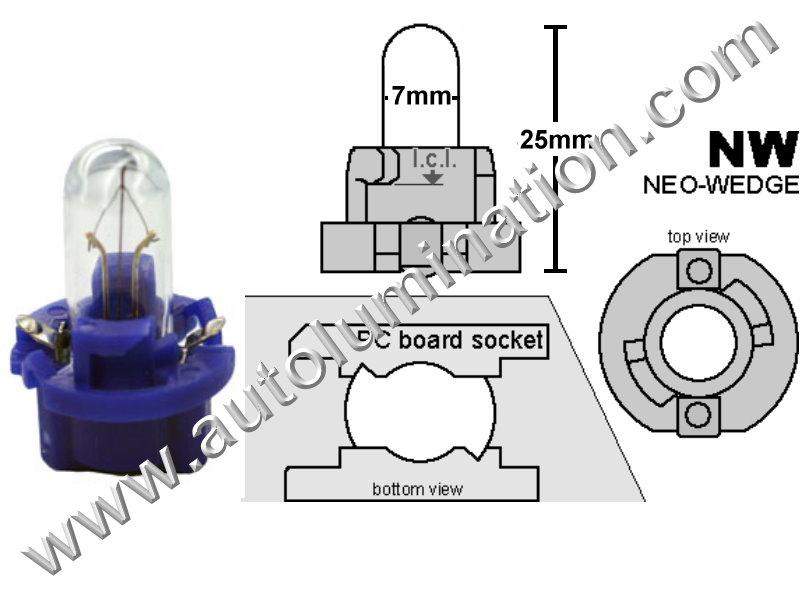 Neowedge PC119 P8.25d Bulb