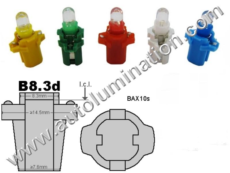 Neowedge Instrument Panel Gauge Bulbs Focused Led  B8.3D 17058