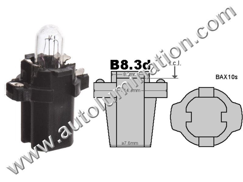 Neowedge Instrument Panel Gauge Incandescent Bulb B8.3D 2741 24 Volt