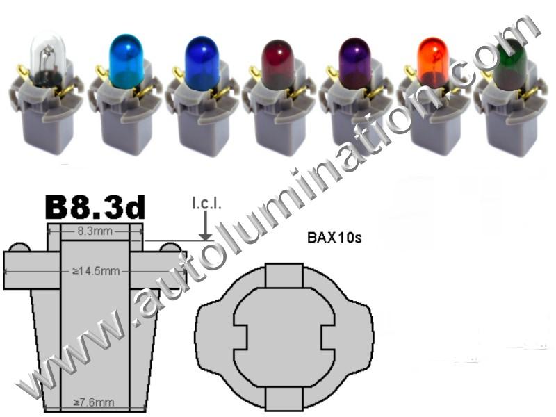 Neowedge Instrument Panel Gauge Incandescent Bulbs  B8.3D 17058