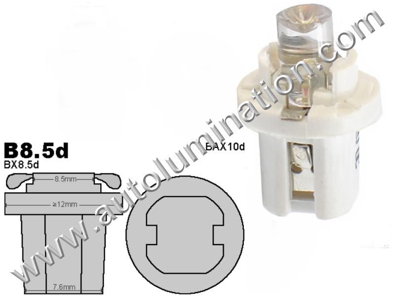 Neowedge Instrument Panel Gauge Bulbs Inverted Led B8.5D 2752 2722 2752MF 2722MF 509t