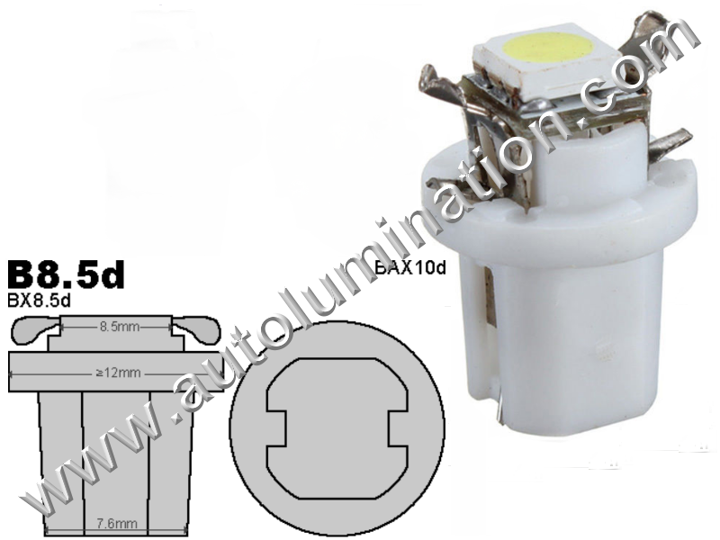 Neowedge Instrument Panel Gauge Bulbs 5050 SMD LedB8.5D 2752 2722 2752MF 2722MF 509t