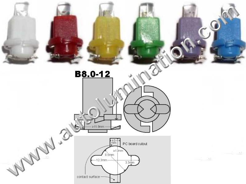 Neowedge Instrument Panel Gauge Bulbs Inverted Led B8 B8 17022 B8.0-12