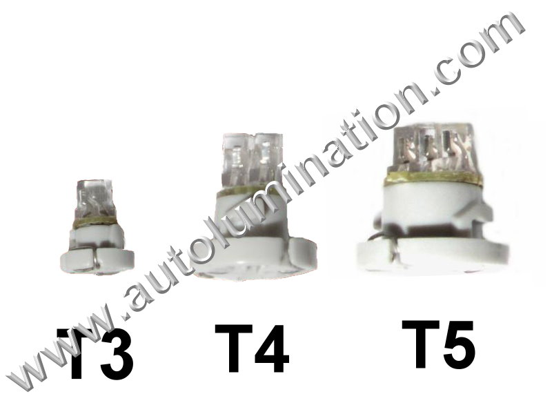 T3 T4 T5 Neowedge Japanese OEM 2x SMD Instrument Panel Gauge Colored Led Bulbs Lights Lamps