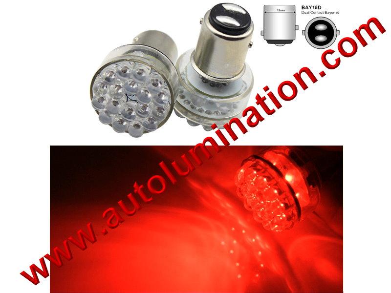 Bay15d 352 1154 1130 1493 888 11A-134656v 6 volt 24 led Red Tail Light Bulb