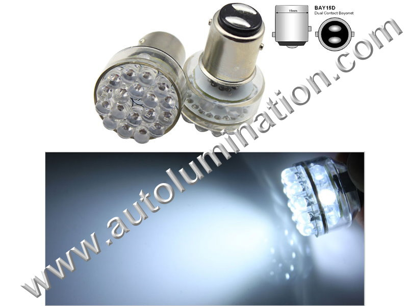 Bay15d 352 1154 1130 1493 888 11A-134656v 6 volt 24 led White Tail Light Bulb