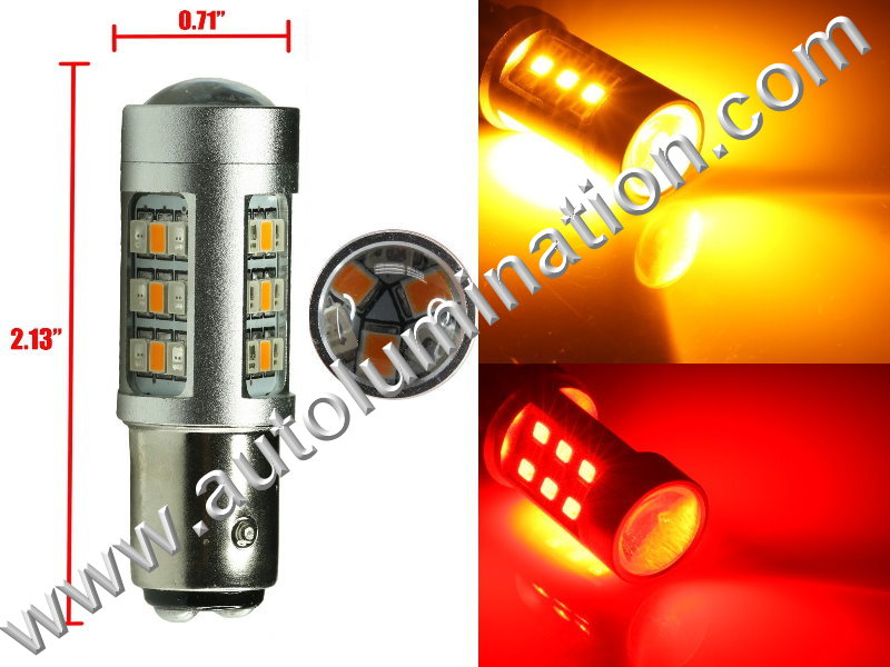 1157  Led Switchback  Optical led Red Amber Turn Signal Bulbs