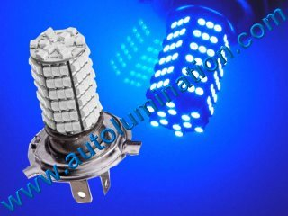 H4 9003 P43 120 Blue Led Headlight Bulb Running Fog Light