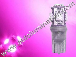 194 161 168 158 W5W 2825 5050 SMD Pink Led Bulb