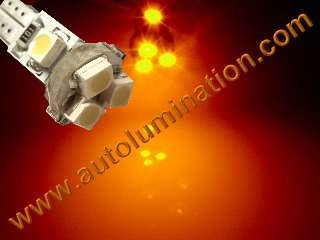 24 T6.5 T6-1.2 T2-1/4 5LED 3528 Bulbs Matrix Amber led bulbs