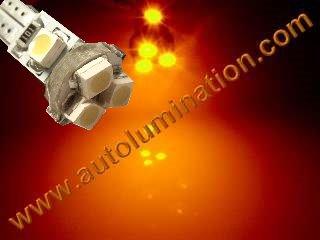 24 T6.5 T6-1.2 T2-1/4 5LED 3528 Bulbs Matrix Amber led bulbs