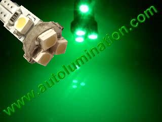 24 T6.5 T6-1.2 T2-1/4 5LED 3528 Bulbs Matrix Green led bulbs