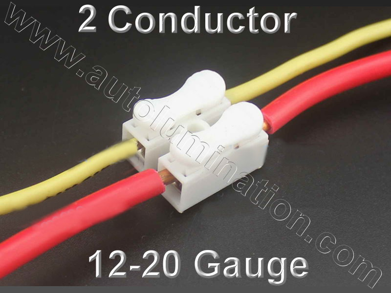 2 Conductor Way Wire Spring Quick  Connector