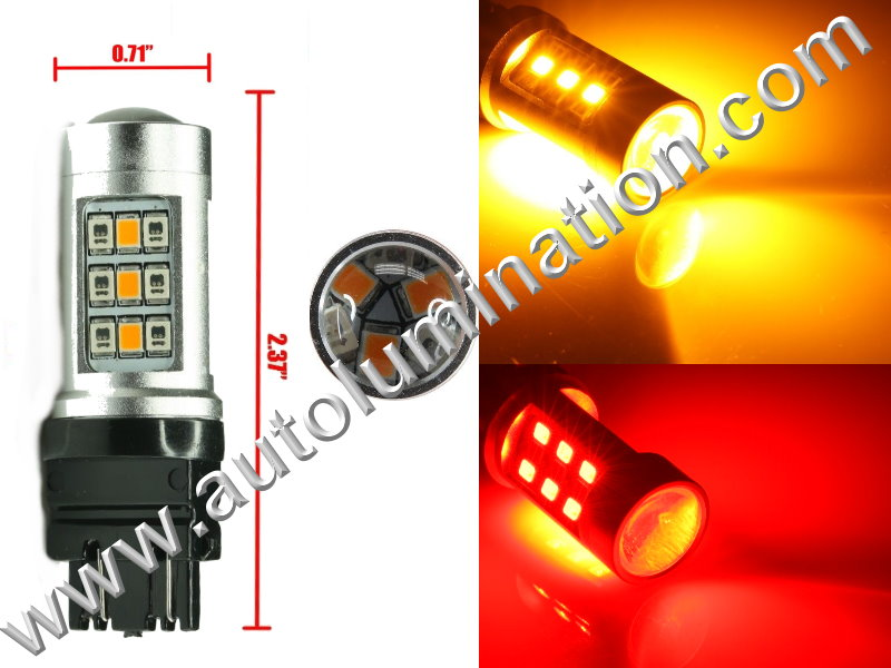 3157  Led Switchback  Optical led Red Amber Turn Signal Bulbs