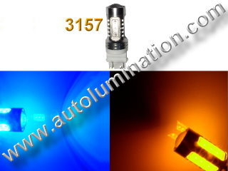 1157 3157 7443  Led Switchback  22 Watt led Blue Amber Turn Signal Bulbs