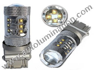 80 Watt Osram Cree 3157 replaces  3047 3057 3155 3156 3157 3157LL 3357 3454 3457 3757 4057 4114 4114LL 4114K 4157 4157LL Tail Light Turn Signal Bulb