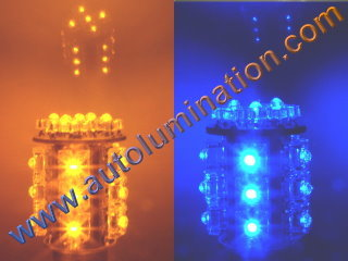 7443 Switchback two color led bulb Amber Blue