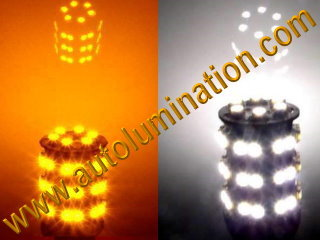 3157 combination amber white led bulb