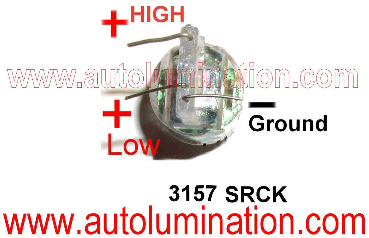 3157_srck_wiring autolumination explanation of difference between 7443 3157 and 1157 bulb wiring diagram at crackthecode.co