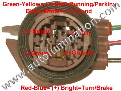 automotive car truck light bulb connectors sockets wiring harnesses Lamp Socket Wiring Diagram 15306147 3157 type 1 pigtail bulb socket connector wiring plan