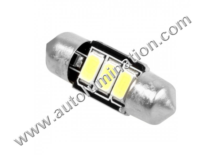 6v volt 6244 6427 Led Festoon Bulb Vespa