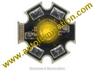 Luxeon Led 3 Watt High Powered Star Cree Amber