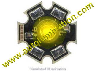 Luxeon Led 3 Watt High Powered Star Cree Yellow