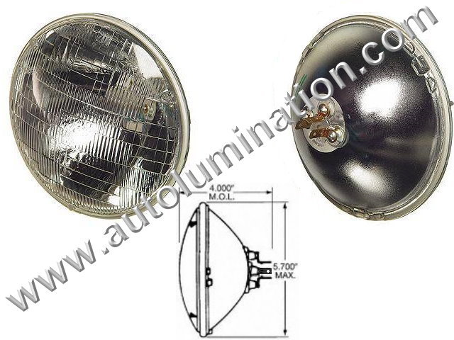 H4000 H4040 H5506 H5006 H5009 4000 4040 4420 5506 5006 5009 Halogen Sealed Beam Conversions Headlight