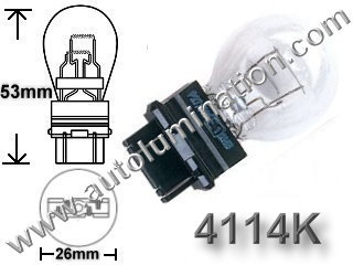 4114 4114K 4114LL4157LL Wedge Bulb