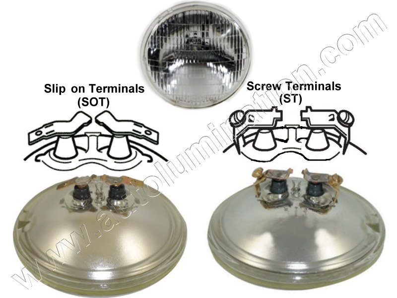 #4411-1 4411 4411SOT 4411-1ST 12.8V/35W PAR36 SEALED BEAM TERMINAL BASE 12.8 Volt 35 Watt PAR36 Sealed Beam John Deere Tractor Headlight Bulb Sylvania Wagner