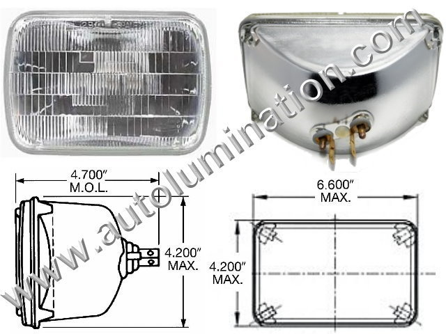H4651 H4666 H4701 H4703 4651 4666 4701 4703 Halogen Sealed Beam Conversions Headlight