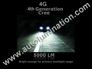 9005 P20d HB3A 6000K Super White LED 60 Watt 4th Generation 4g Cree High Powered Headlight Bulb