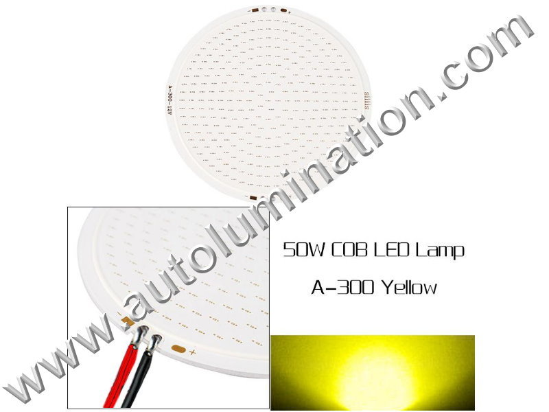 50 watt COB LED Board 110mm Amber