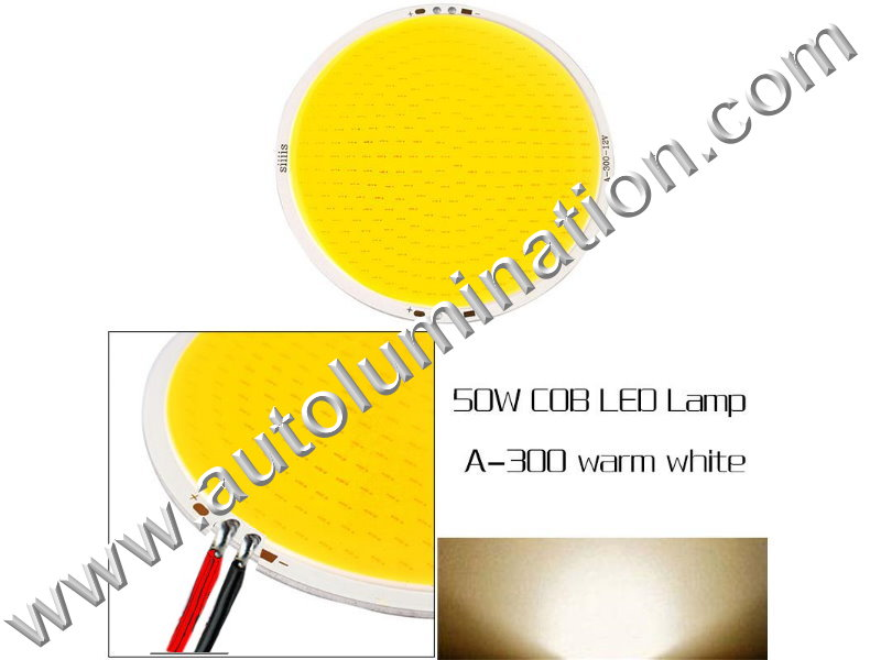 50 watt COB LED Board 110mm Warm White