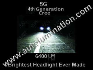 9005 P20d HB3A 6000K Super White LED 6400 lumens 5th Generation 5g Cree High Powered Headlight Bulb