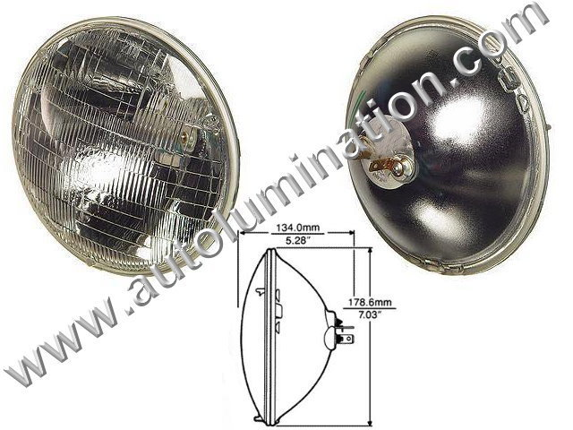 H6024 6024  Halogen Sealed Beam Conversions Headlight