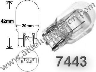 7443 7444 W21/5W Dual Circuit