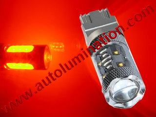 7443  80w Red Braker Flashing Led Brake Light