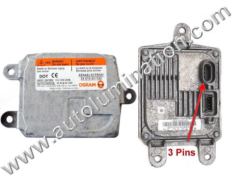 Ballast 12v 35 Watt HID OEM PN: Osram 83110009044 (D1 D3 O1)Type 2