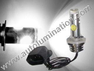 800 (Series) 862 881 886 889 894 896 898 899 H27/ W2 Angled Base 6000K Super White LED 12 Watt High Powered Headlight Bulb